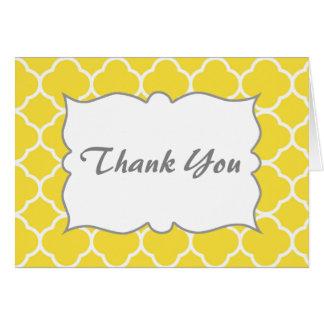 春の黄色いクローバーありがとう カード