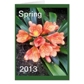 春の2013年の挨拶状の一致のスタンプ カード
