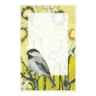 春の《鳥》アメリカゴガラの文房具 便箋