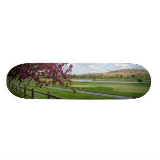 春のRivercut スケートボード