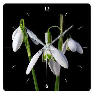 春は永遠はねます スクエア壁時計