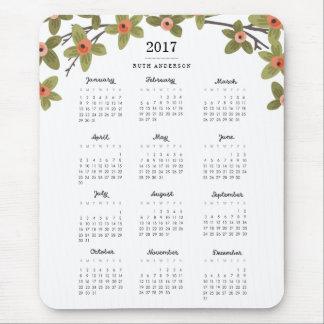 春は2017カレンダーを発芽させます マウスパッド
