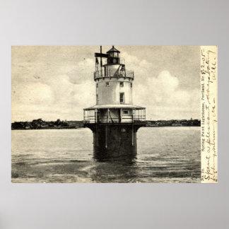 春ポイント灯台、ポートランドメイン1905年 ポスター