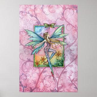 春モーリーハリスンによる妖精ポスタープリント ポスター