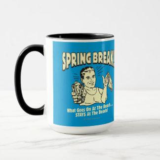 春休み: ビーチの滞在 マグカップ