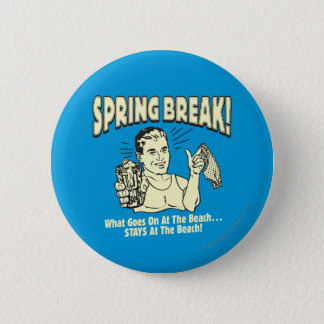 春休み: ビーチの滞在 5.7CM 丸型バッジ