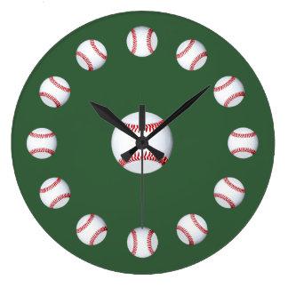 春季トレーニングの時間新しい野球シーズンファン ラージ壁時計