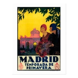 春旅行昇進ポスターのマドリード ポストカード