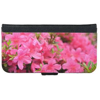 春時間のピンクのシャクナゲの花 iPhone 6/6S ウォレットケース