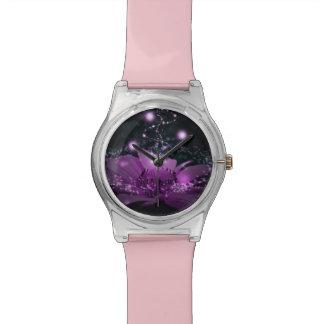 春時間花の女性か女の子の腕時計 腕時計