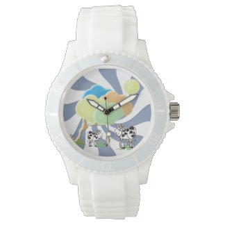 春牛および子牛のスポーティな腕時計 腕時計