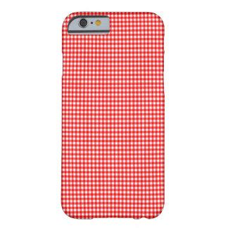 春2015の傾向の小さい点検の赤と白のギンガム BARELY THERE iPhone 6 ケース