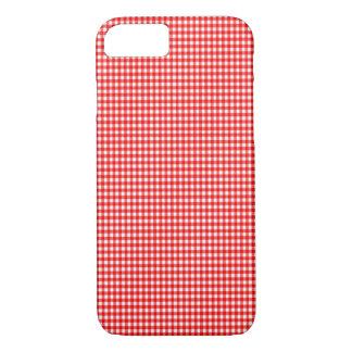 春2015の傾向の小さい点検の赤と白のギンガム iPhone 8/7ケース