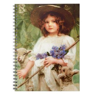 春。 イースターギフトのノート ノートブック