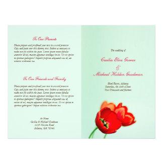 春|チューリップ|赤い|花柄|ミント|結婚|プログラム