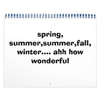 春、夏、夏、秋、冬…. ahhいかにw… カレンダー