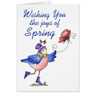 春-挨拶状の喜び カード
