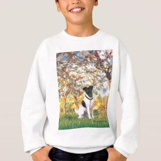 春-滑らかなフォックステリア犬 スウェットシャツ