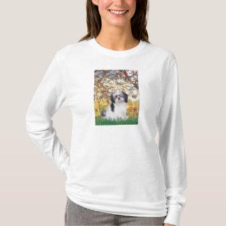 春- (a)シーズー(犬)のtzu tシャツ