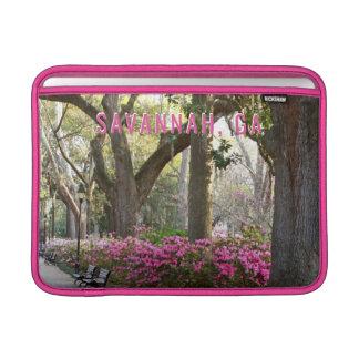 春| Forsyth公園のピンクのツツジのサバンナGA MacBook スリーブ
