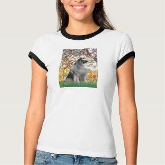 春- Keeshond Tシャツ