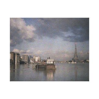 昨日パリ:  エッフェル塔、1910年頃パリ、 キャンバスプリント