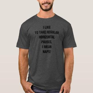 昼寝についてのおもしろいなTシャツ-完全に Tシャツ