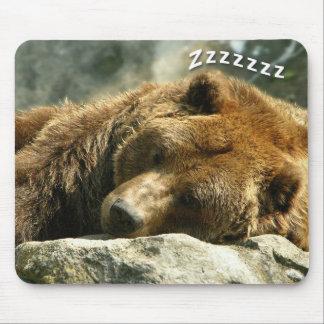 昼寝の時間くま マウスパッド