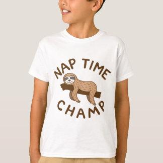 昼寝の時間チャンピオン Tシャツ