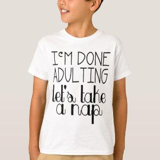 昼寝を取ろう Tシャツ