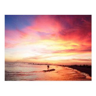 昼寝主フロリダの夏の夜、日没 はがき