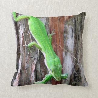 昼食だれでもか。  Anole緑の(トカゲ)の枕 クッション