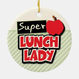 昼食の女性-すごい昼食の女性 セラミックオーナメント