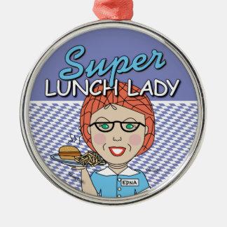 昼食の女性-すごい昼食の女性 メタルオーナメント