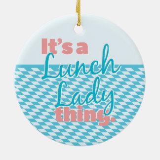 昼食の女性-それは昼食の女性事です セラミックオーナメント