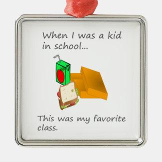昼食は子供として私のお気に入りのなクラスでした メタルオーナメント