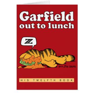 昼食を共にするガーフィールドメッセージカード カード