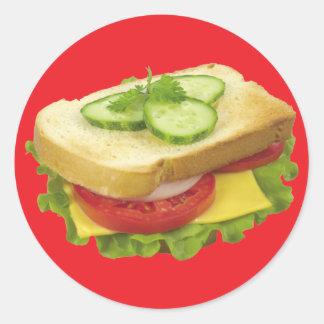 昼食サンドイッチ ラウンドシール
