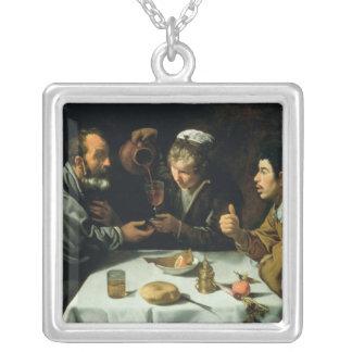 昼食1620年 シルバープレートネックレス