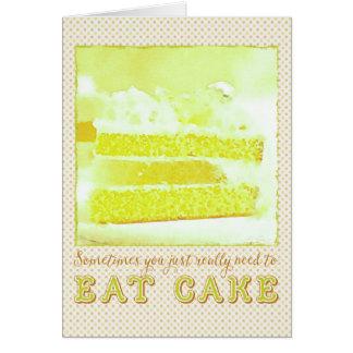 時々ちょうど実際にメロンのケーキを食べる必要があります カード