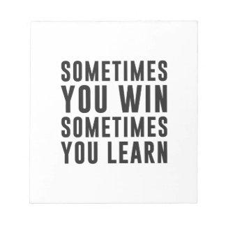 時々時々勝利、学びます ノートパッド