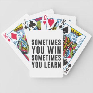 時々時々勝利、学びます バイスクルトランプ
