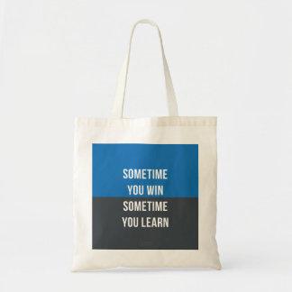 時々時々、学びますバッグを勝ちます トートバッグ