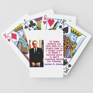 時々歴史および運命- Lyndon Johnson バイスクルトランプ