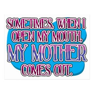 時々私が私の口を…開ける時、 ポストカード