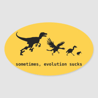 時々、進化の最低 卵形シール・ステッカー