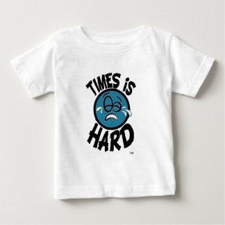 時は堅いです-青 ベビーTシャツ
