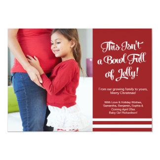 時事通信を期待するゼリーの妊娠の発表 12.7 X 17.8 インビテーションカード