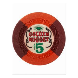 時代遅れラスベガスのポーカー用のチップのカジノの賭けること ポストカード