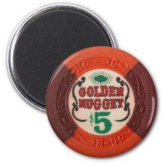 時代遅れラスベガスのポーカー用のチップのカジノの賭けること マグネット